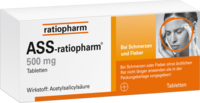 ASS ratiopharm 500 mg Tabletten