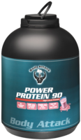 POWER PROTEIN 90 Strawberry Flavour Pulver
